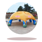 Advertising inflatable tents