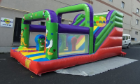 Cheerful Characters Inflatable Water Slide 7x4x4m