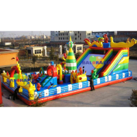 Dragon Nest Inflatable Playground 16x8x7m