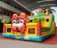 Inflatable Tiger combo playground 9x6x5. 5m