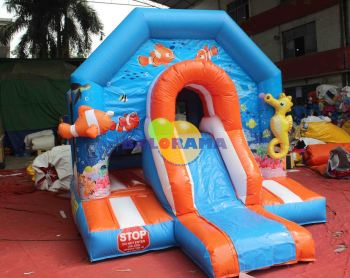 Inflatable Playground Atlantis Slide With Hopper 4.6x3x3h Mt