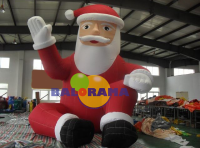 Inflatable Sitting Santa Claus 6m