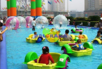 10 Pcs Bumper Boat and 10x8m Inflatable Pool