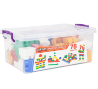 78 Pieces Colorful Play Blocks
