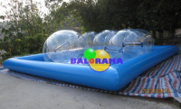 8x8m Inflatable Pool and 4 Pcs Pvc Water Ball