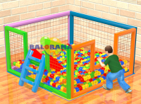 Ball Pool Slide with Bulk 200x200x100cm