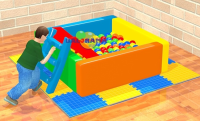 Ball Pool with Sponge Slide 140x140x50cm
