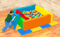 Ball Pool with Sponge Slide 160x160x50cm