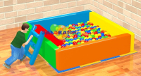 Ball Pool with Sponge Slide 200x200x50cm