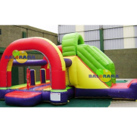 Bounce Slip Combo Inflatable Playground 6x4x3.5m