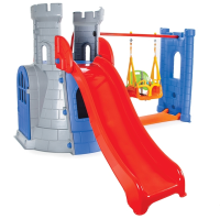 Castle Slide Swing Set