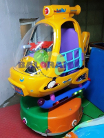 Coin Operated Rising Rotating Helicopter Game Machine