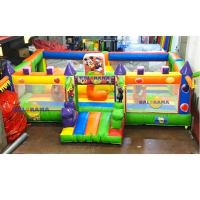 Colorful Inflatable Playground 7x6x2.5m