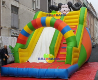 Colorful Inflatable Slide 6x4x6m