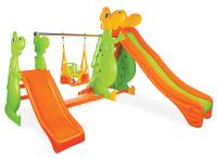 Dino Swing Set with Double Slide