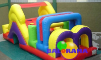 Disabled Track Inflatable Playground 7x3.5x3m