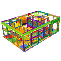 Forest Ball Pool with Slide 6x4x2.5m