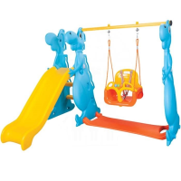 Happy Dino Slide and Swing Set