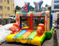 Inflatable Ball Pool Colorful Tiger 3x4.5x3m