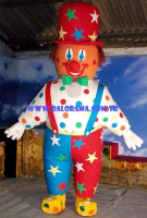 Inflatable Colorful Clown Mascot 3m