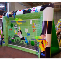 Inflatable Football Castle Penalty Shoot 4x2x2.5m