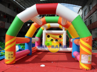 Inflatable Game Colorful Shock Skill 6x5x3m