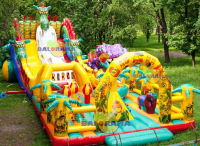Inflatable Giant Dragon Park 14x9x6m