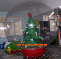 Inflatable Globe Covered Tree