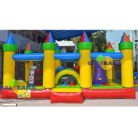 Castellated Inflatable Playground 6x4x2.5m