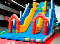 Inflatable Land of Snow Slide 8x5x8m