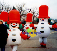 Inflatable Snowman Costume 3m