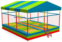 Junior Trampoline with Six Roofs