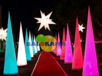Led Lighted Balloon Cone 4m