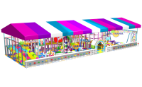 Softplay Game Park with Roof 19x7x4 mt