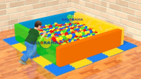 Sponge Ball Pool Square Large 2mx2mx50cm
