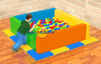 Sponge Ball Pool Square Medium 160x160x50cm