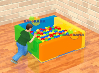 Sponge Ball Pool Square Small 140x140x50cm
