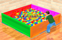 Square Iron Ball Pool 2mx2mx50cm