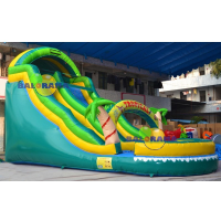 Tropical Inflatable Water Slide 8x4x6m