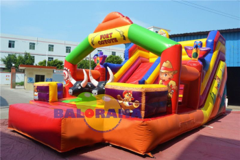 Western Inflatable Balloon Park 8x4.5x4.5m